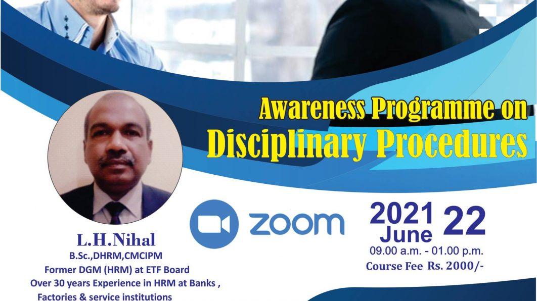 """""""Awareness Programme on Disciplinary Procedures"""""""